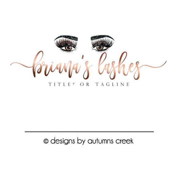 lash logo eyelashes logo eyebrow logo premade logos makeup
