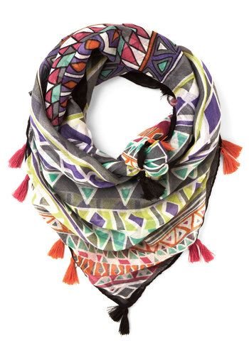 Congruent and Colorful Scarf #modcloth