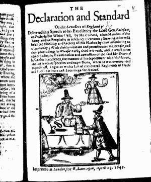Woodcut from a 17th Century Diggers document by William Everard.