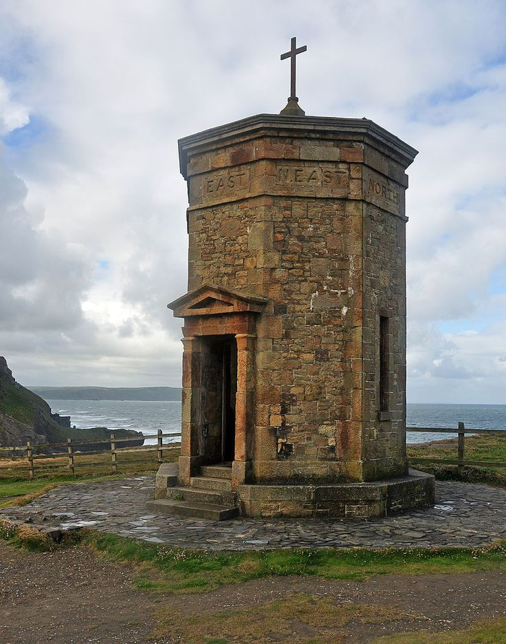 """""""Storm Tower"""", whose eight sides face the cardinal and sub-cardinal points of the compass, also built by in 1835 by the 10th baronet"""