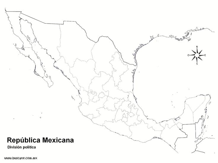 Ms de 25 ideas increbles sobre Mapa mexico con nombres en Pinterest