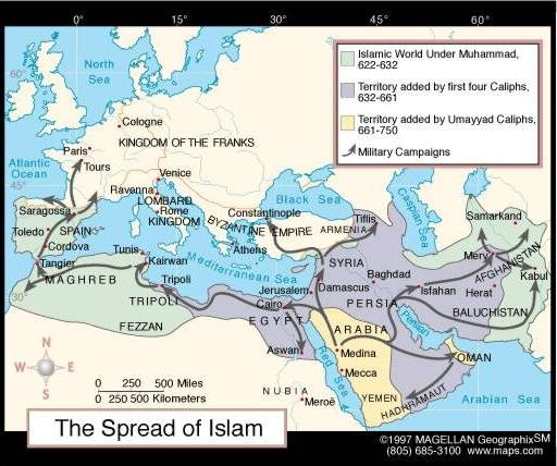 "spread of islam Source:$susanramirez%et%al,%""tradingstates%of%east%africa,""world(history:(human(legacy."