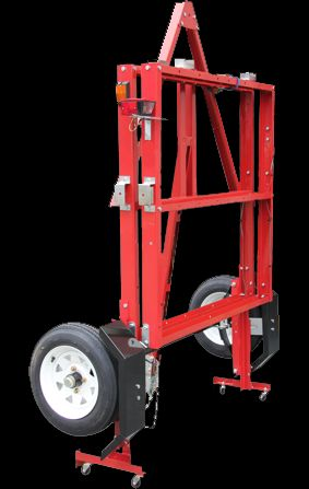 folding trailers - small casters make for easy storage in the garage/shed