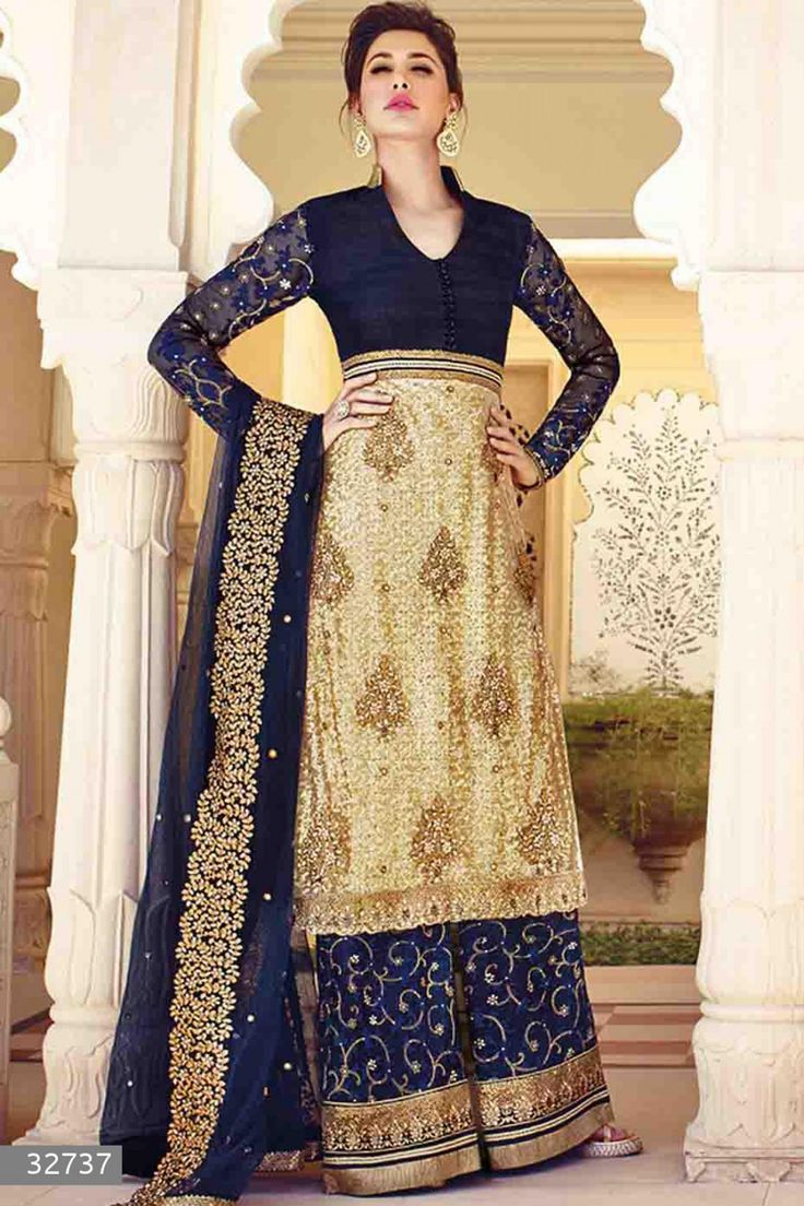 Nargis Fakhri - Beige and Blue Faux Georgette and Net Salwar Kameez with Embroidered and Lace Work - Z2570P32737-1 #designer #salwar #kameez @ http://zohraa.com/salwar-kameez.html #zohraa #onlineshop #womensfashion #womenswear #bollywood #look #diva #party #shopping #online #beautiful #salwar #kameez #beauty #glam #shoppingonline #styles #stylish #model #fashionista #women #lifestyle #girls #anarkali #suit #nargisfakhri