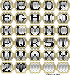 bead loom letters - Google Search