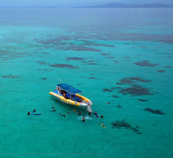 Including a snorkel in the Great Barrier Reef