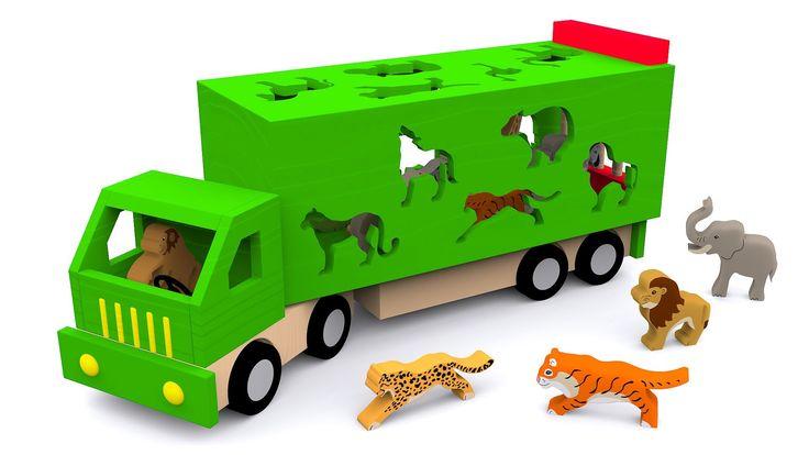 Los animales salvajes para niños. Dibujos animados educativos en español...