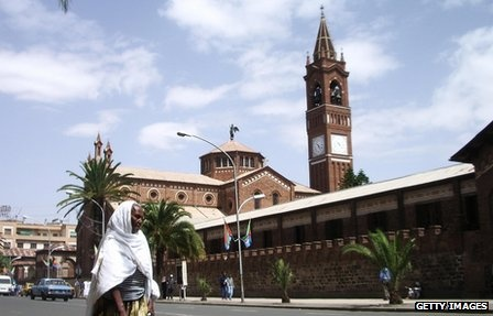 The Cathedral and Catholic Mission in Eritreas capital Asmara