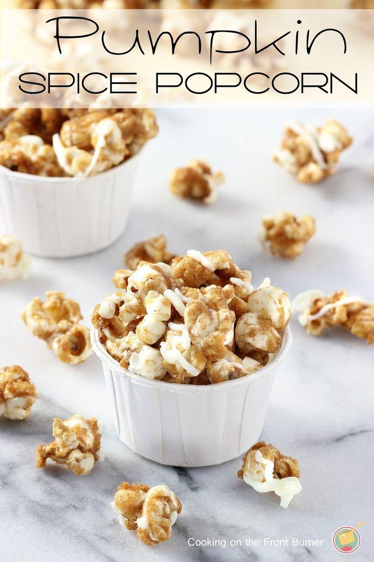 Pumpkin Spice Popcorn |Cooking on the Front Burner