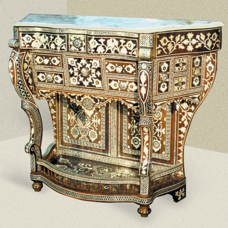 Moroccan Style Console Table Islamic Words Dwsign Pinterest Oriental Entrance And Marquetry