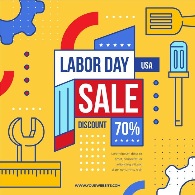 Download Labor Day Sale Usa Concept For Free Print Design Template Graphic Design Templates Black Friday Graphic
