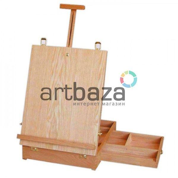Купить деревянные переносные, настольные мольберты ящики для красок и кистей в Киеве (Украина) по цене оптового интернет магазина для художников и творчества.