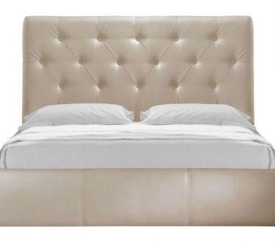 Lit coffre 140x190 cm CLARA coloris ivoire