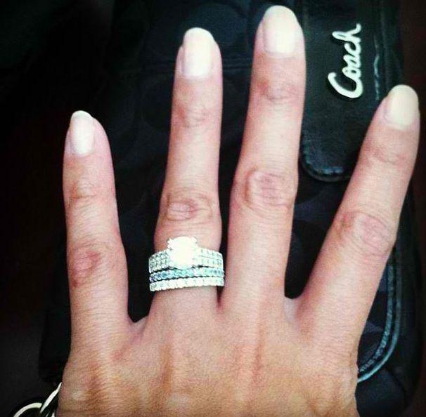 Amazing Rings Wedding Big Birthstones Wedding Band Engagement Band