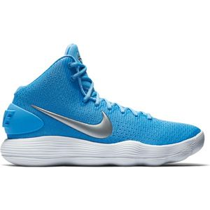 Men's Nike Hyperdunk 2017 (University Blue)  Style Number: 897631-401  University Blue/Metallic Silver/White  Challenge your game to a new level with the Men's Nike Hyperdunk 2017.  Made with Nike's react cushioning and a pressure mapped outsole, these shoes are great for inside or outside courts.  The Men's Nike Hyperdunk 2017 also feature a woven upper for support and 1/2 bootie construction for a snug fit.   	Woven upper 	1/2 Bootie construction 	Pressure mapped outsole 	React cushioning