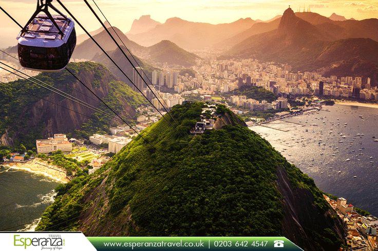 Sugarloaf Mountain - Rio de #Janeiro:   Sugarloaf #Mountain is a peak situated in #Rio de Janeiro, #Brazil, at the mouth of Guanabara #Bay on a peninsula that sticks out into the #Atlantic #Ocean. |   #sugarloafmountain #sugarloaf #riodejaneiro #southamerica #cablecar #sunset #beach #travel #esperanzatravel #cheapflights #travelagentuk |   Source: https://en.wikipedia.org/wiki/Sugarloaf_Mountain |   #flightstoriodejaneiro: http://www.esperanzatravel.co.uk/flights-to-rio-de-janeiro.php