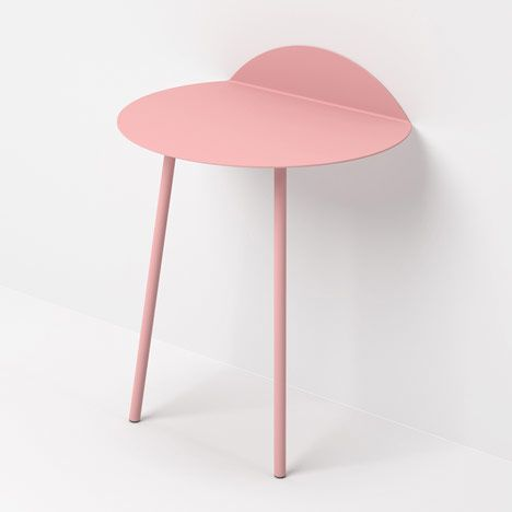 // Kaki side tables by Kenyon Yeh