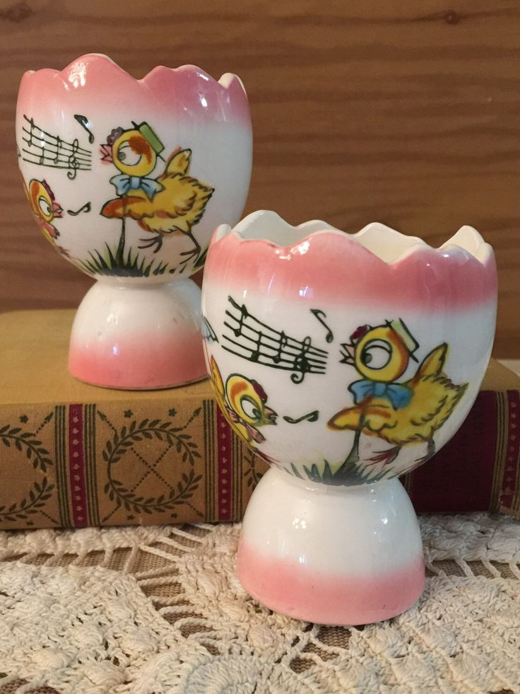 A personal favorite from my Etsy shop https://www.etsy.com/listing/262760953/egg-cups-vintage-easter-eggs-spring