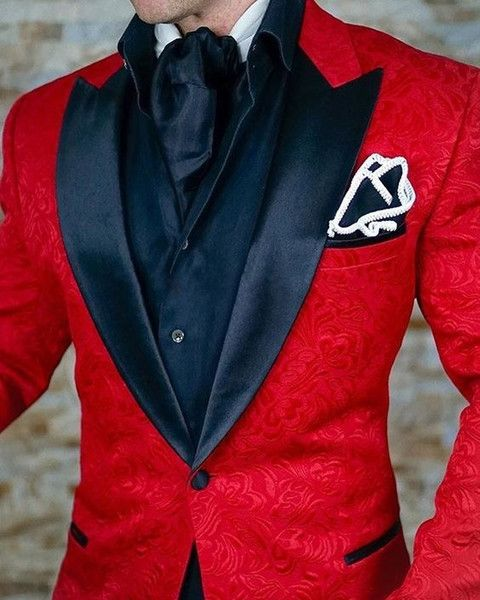 9796046e74704 2017 Brand Red Mens Floral Blazer Designs Mens Paisley Blazer Slim Fit Suit  Jacket Men Wedding Tuxedos Fashion Male Suits (Jacket+Pant) 2018 from  airtailors ...