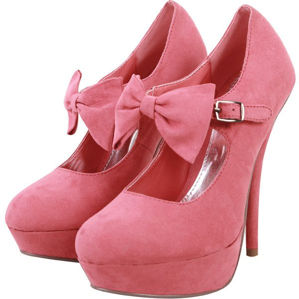Wah!Front Platform, Fashion, Style, Woman Shoes, Pink Bows, Heels, Pink Shoes, Bows Front, Bows Shoes