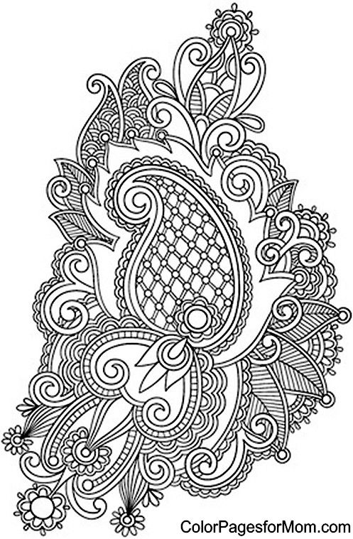 Geometric Art Coloring Book : Best 25 paisley coloring pages ideas on pinterest color