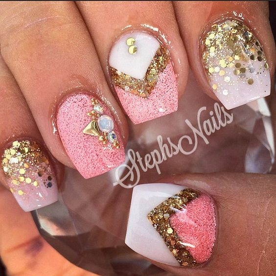 90+ Beautiful Glitter Nail Designs To Make You Look Trendy And Stylish -  Page 70 - Best 25+ Birthday Nail Designs Ideas On Pinterest Party Nails