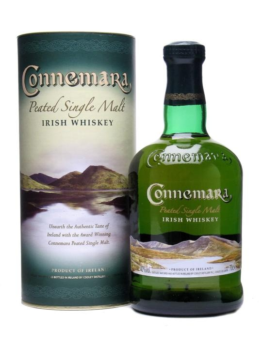 Connemara Peated Irish Whiskey : Buy Online - The Whisky Exchange - Thought peat was all about Islay? Think (or perhaps that should be 'drink') again.  All Islay fans owe it to themselves to check out Connemara from the splendid Cooley distillery.   Web-Exclusive P...