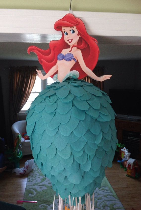 Disney Princess Pinata  Ariel Little Mermaid by BobbiGirlBoutique