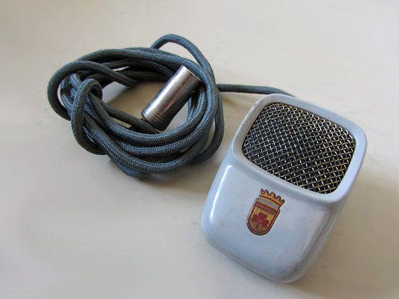 Vintage Grundig Microphone by uhlalalebrocantage on Etsy