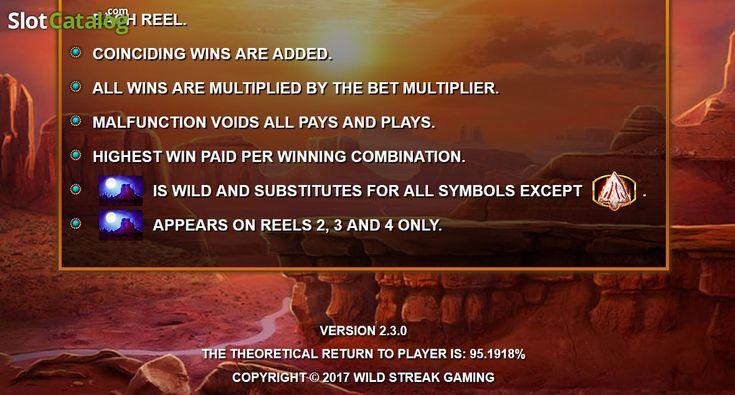 Paytable 6. Wild Catcher(Video SlotfromWild Streak Gaming)