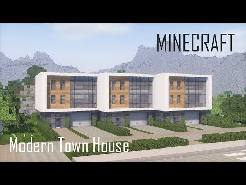(6) Minecraft Modern Town House 2 (full interior) + Download - YouTube