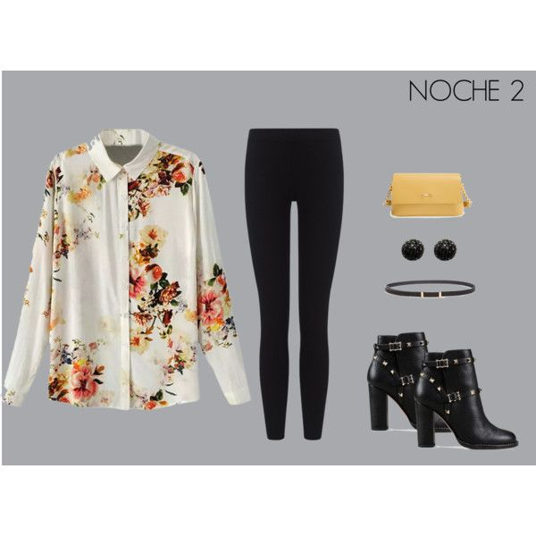 NOCHE 2 by marisol-fernandez-zumba on Polyvore featuring polyvore fashion style James Perse Valentino Longchamp Kenneth Jay Lane