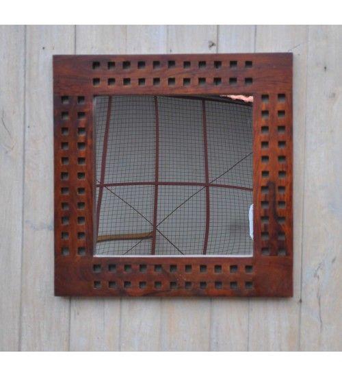 Indyjskie drewniane #lustro wyprodukowano w Indiach Model: HM-034 Kupuj online w: http://goo.gl/GRTA2K