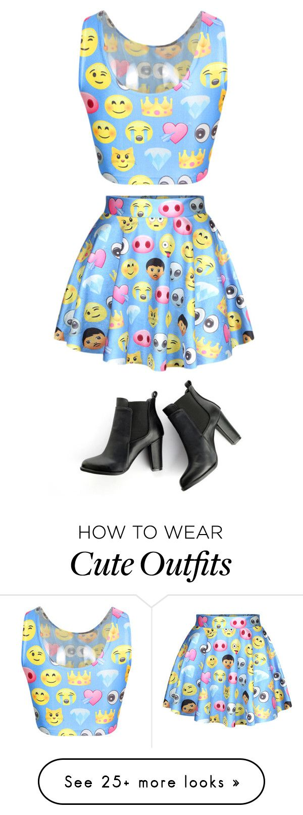 """Emoji Outfit"" by destinyfuqua on Polyvore featuring SWEET MANGO"