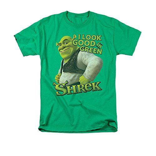 Shrek Animated Childrens Comedy Movie I Look Good In Green Logo Adult T-Shirt @ niftywarehouse.com #NiftyWarehouse #Shrek #Movies #Movie