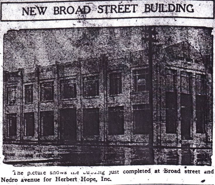 """""""New Broad Street Building"""" for Herbert Hope, Inc.  From The Philadelphia Inquirer; Sunday morning, February 15th, 1925, Page 6."""