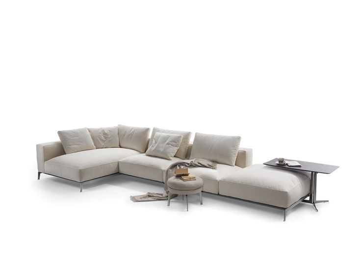 ettore sofa with chaise longue ettore collection by flexform design antonio citterio