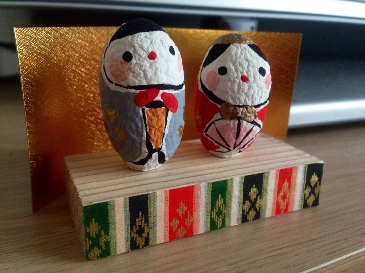 Hina dolls are displayed  for praying girls' health and happiness in March.