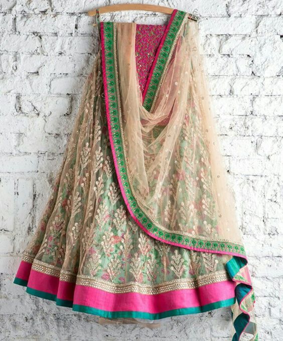 Love this multicoloured lehenga by Swati Manish #Frugal2Fab