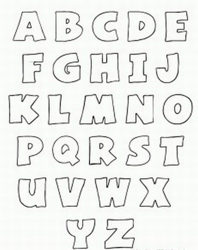 Free printable alphabet stencils printable bubble for Free printable alphabet templates