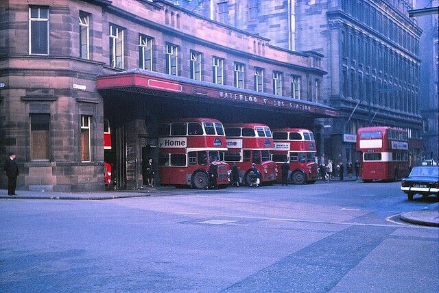 Waterloo Street Bus Station in Glasgow on 19 October 1969. Picture: Guy