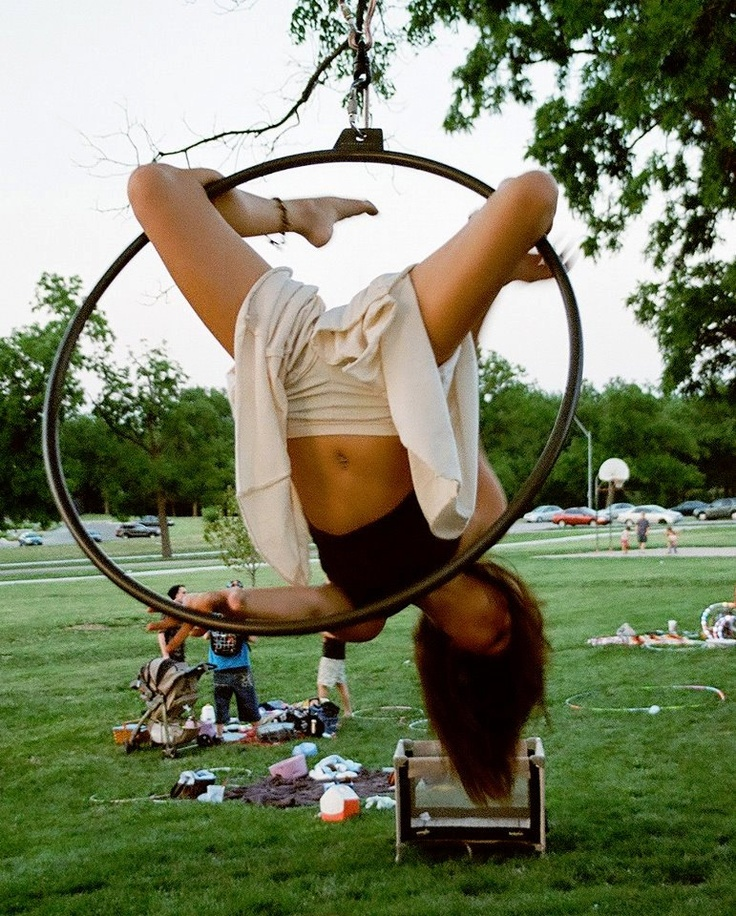WANT ONE! Would be the awesomest rope swing ; ) Single Point Aerial Hoop Lyra by HarlequinPlayshop on Etsy, $250.00