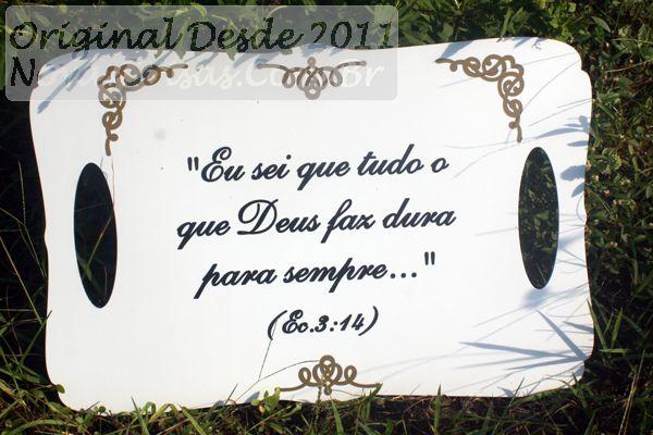Placa de casamento evangélico versículo bíblia 45x30