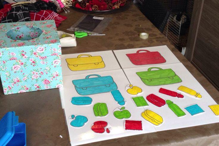 Thema terug naar school: sorteren op kleur