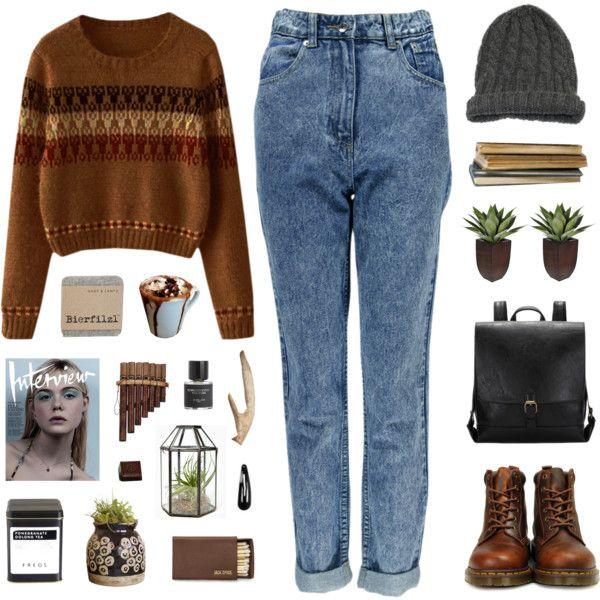 A fashion look from June 2016 featuring Boohoo jeans, Dr. Martens ankle booties and Vanessa Bruno hats. Browse and shop related looks.