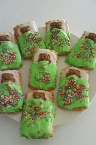 Bedtime teddies cookies