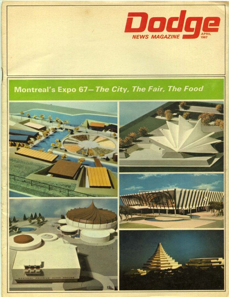 Dodge News Magazine April 1967 Expo 67 Montreal Canada Quebec Worlds Fair Issue | eBay