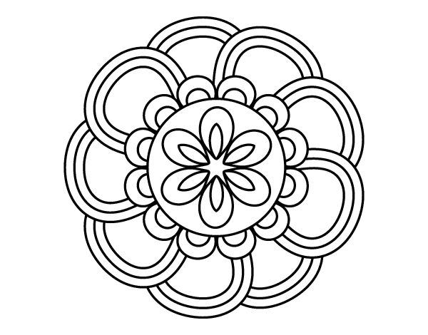 Dibujo de Mandala de pétalos