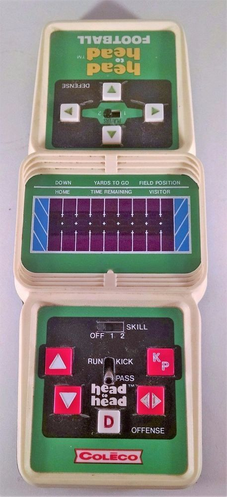 COLECO VINTAGE ELECTRONIC HAND HELD HEAD TO HEAD FOOTBALL GAME  #Coleco