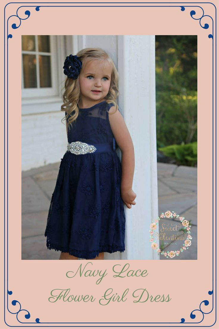 0fd398d65 Navy Blue Flower Girl Dress,Navy Lace Girl Dress, rustic Flower Girl Dress,Flower  Girl Dresses country,Junior Bridesmaid Dress,baby dress #affiliate